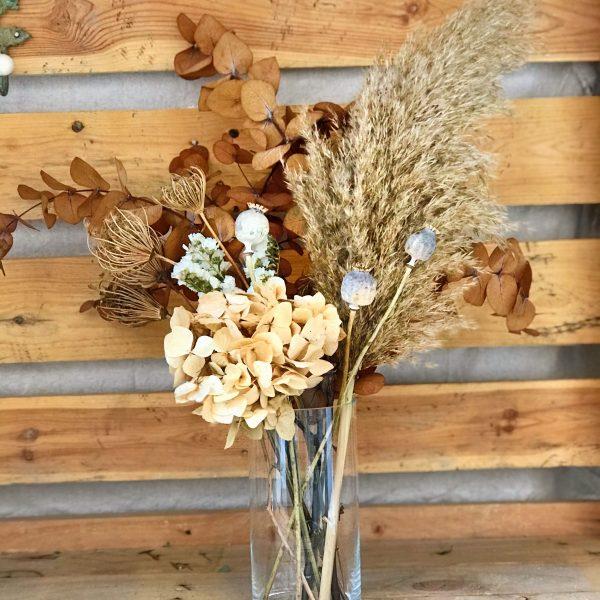 Jarrón Manet con flores preservadas