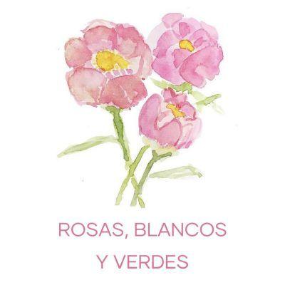 Tonos rosas, blancos y verdes