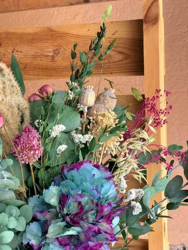 Jarrón María Antonieta flores preservadas