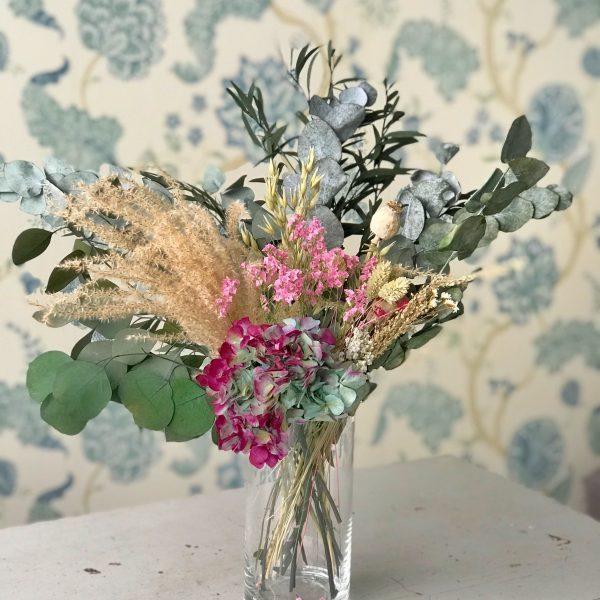 Jarrón Monet con flores preservadas