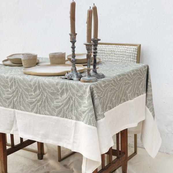 Mantel oliva hojiblanca 170×145